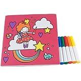 Jip - Libro para colorear (lavable, contiene 5 rotuladores), diseño de Candy Girls