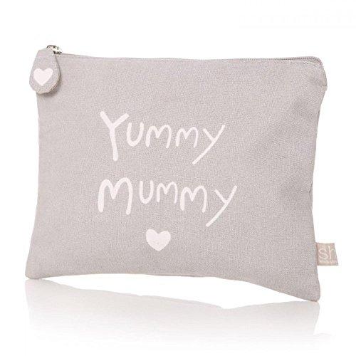 Yummy Mummy Gris étui à maquillage trousse de toilette Trousse de maquillage