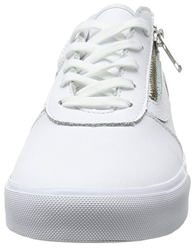 Vans Milton Zip, Baskets Basses Femme Blanc (Perf Leather white)