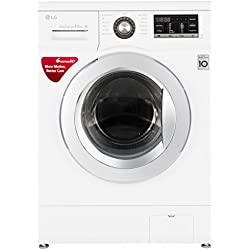 LG 6.5 kg Fully-Automatic Front Loading Washing Machine (FH0G6WDNL22, Blue White)