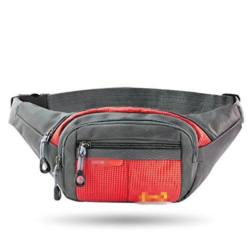 GXYLLDS Running Belt Sweat Pockets Cinturón Belt Sports Belt Waterproof Running Camping Teléfono Móvil Teclado Walkman Tarjeta,RoseRed-OneSize
