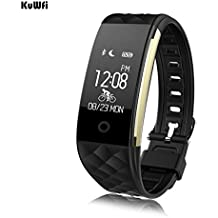 KuWFi S2 Smart Watch Sport Smart Brazalete De La Muñeca Pulsera Brazalete Del Monitor De Ritmo Cardíaco IP67 Waterproof Bluetooth Smartband Para El iphone Android