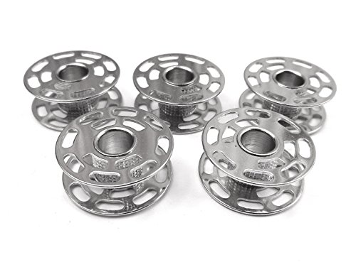 5 Metall Spulen für Bernina 1630 / 730 / 640 / 580 / 450 / 200e / 185 / 180 Nähmaschine (Bernina Metall Spulen)