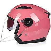 093795d0effe2 HaoLiao Casco de Motocicleta de Doble Lente con Cubierta Media y Protector  Solar para Coche eléctrico