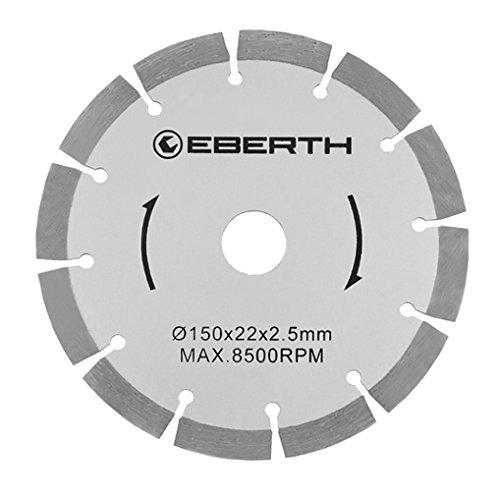 EBERTH 8x Universal Diamanttrennscheibe (D 150 x d 22,2 x 2,5 mm, 8500 U/min., verschleißarm, segmentiert)