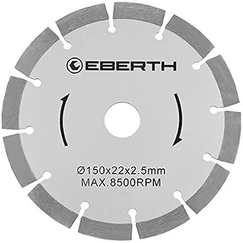 Eberth 8x Discos de diamante para rozadora 150 mm