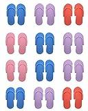 hysagtek 12Paar Dusche Sand Pediküre Beach Leichtes Schaumstoff Flip Flops, Sandalen zufällige Farbe
