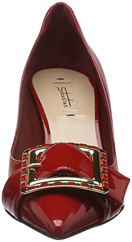 Sebastian S7128, Escarpins femme Rouge - Rot (Vercer/Oro)