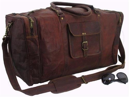 Classy Designs Leather Travel Weekend Bag