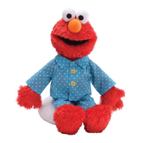 Gund - Peluche di Emo in pigiama, serie Sesame Street, 35,5 cm
