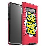 eSwish Coque Matte Robuste Antichoc de Coque pour Samsung Galaxy S10 Plus/Bang! Design/Comics/Dessin Animé Mots Collection