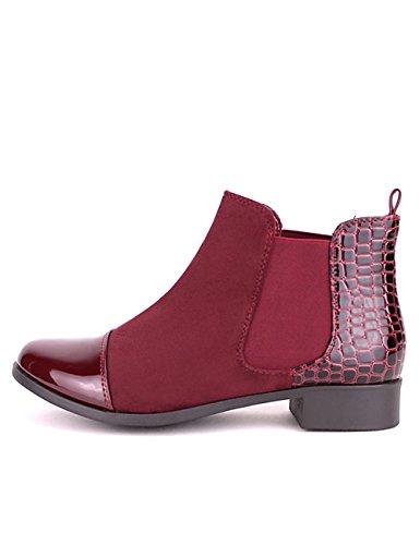 Cendriyon Bottine Bordeaux Bi matière HEYNA Chaussures Femme