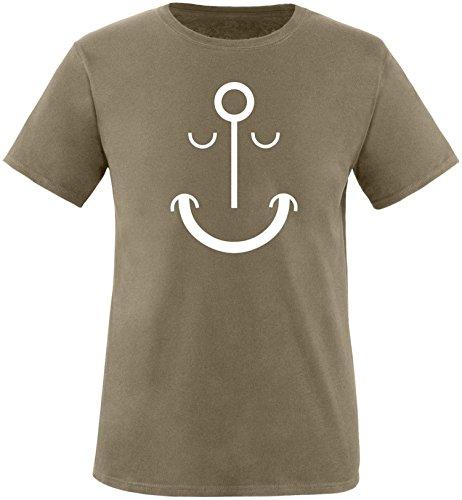 EZYshirt Anker smile Herren Rundhals T-Shirt Oliv/Weiss
