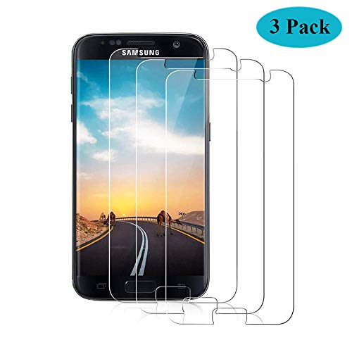 Seomusen Panzerglas Schutzfolie kompatibel mit Samsung Galaxy S7 [3 Stück], [9H Härte][ Anti-Kratzen] [Anti-Fingerabdruck] [Anti-Öl][HD Ultra Klar], Panzerglasfolie für Galaxy S7
