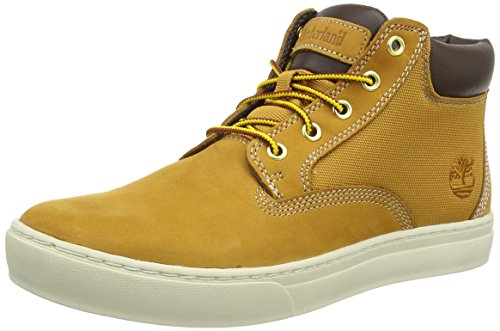 Timberland Herren Dauset Leather and Fabric Chukka Boots, Braun (Wheat Nubuck), 45 EU -