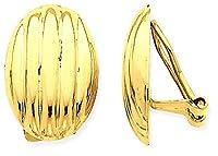 IceCarats 14k Yellow Gold Non Pierced Clip On Fancy Earrings