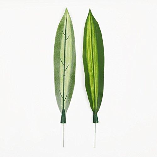 VORCOOL 10Stück Künstliche Pflanzen Dracaena fragrans Künstliche Blatt tropischen Grün Blatt einzige Haus Dekorationen
