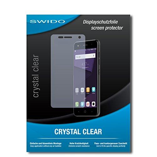 SWIDO Bildschirmschutz für ZTE Blade V8 Mini [4 Stück] Kristall-Klar, Hoher Härtegrad, Schutz vor Öl, Staub & Kratzer/Schutzfolie, Bildschirmschutzfolie, Panzerglas Folie