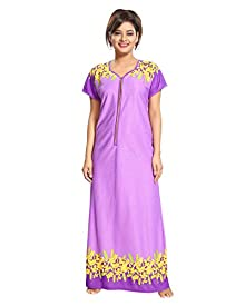 99afd255b55 TUCUTE Women s Floral Print Border Nighty Night Gown Nightwear Nightdress Sleepwear  with