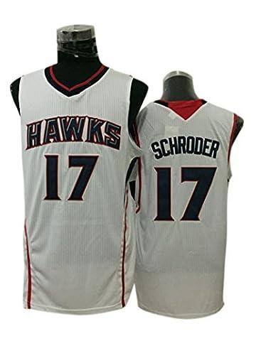 Hawks 17 Dennis Schroder White New Revolution 30 Jersey Size-M by Simona