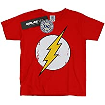 DC Comics niños Flash Distressed Logo Camiseta