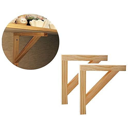 Shelf bracket SZXD Madera Maciza Soporte para estantes 2 Piezas Soportes de...