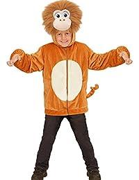 Sweatjacke Affe Plüsch Kinder Pluesch Jacke mit Kapuze Jumper Hoody Weste Teddy, Größe:113