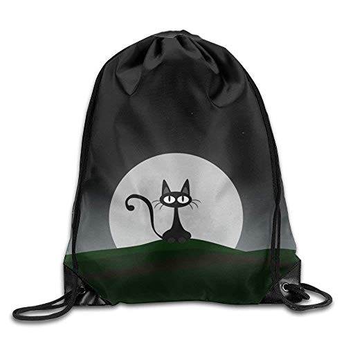 False warm warm Cat Drawstring Backpack Rucksack Shoulder Bags Training Gym Sack for Man and Women - Roxy Rolling Rucksack