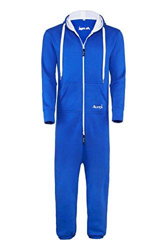 TR Martha ALERX Herren Jumpsuit Jogger Jogging Anzug Trainingsanzug Overall (L, Blau)