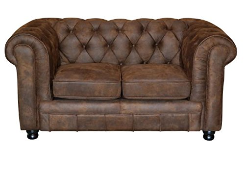 Vintage Sofa Oxford Chesterfield 2 Sitzer Vintage