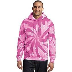 Port & Company Hombre Essential Tie Dye Jersey sudadera con capucha, Hombre, color rosa, tamaño Medium