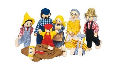 Muñecas campesinas de flexión de la familia No. SO 305 [Importado de Alemania] de Goki