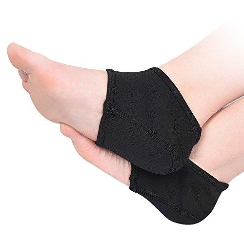 SOUMIT Fersen Socken   Antibakterielle Atmungsaktiv Halb Fersenkissen, Fuß Unterstützung Fußmassage Hautpflege für Trockene Gebrochene Rissige Haut und Fersensporn