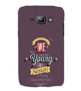 FUSON We Are Young Wild 3D Hard Polycarbonate Designer Back Case Cover for Samsung Galaxy J1 (6) 2016 :: Samsung Galaxy J1 2016 Duos :: Samsung Galaxy J1 2016 J120F :: Samsung Galaxy Express 3 J120A :: Samsung Galaxy J1 2016 J120H J120M J120M J120T