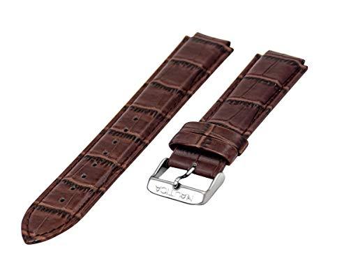 Nautica Herren-Uhrenarmband A14680G N14680G NST 700 Chrono Braun Alligator-Narbenleder Ersatzband Uh