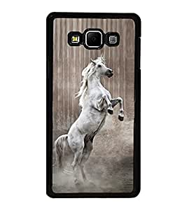 Fuson Premium 2D Back Case Cover Horse With Black Background Degined For Samsung Galaxy A7::Samsung Galaxy A7 A700F