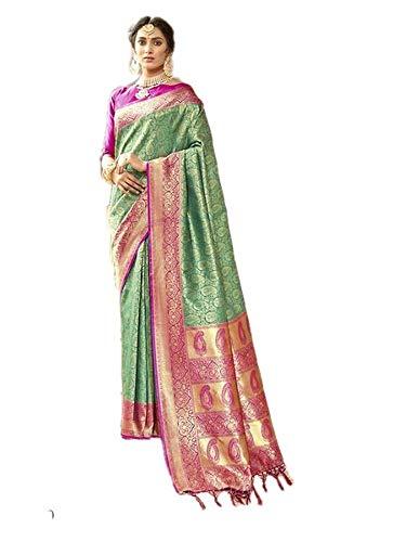 Indian Designer Collection Party Wear Saree Banarasi Silk Saree Saree Tradidtional Sari Wedding Wear Sari 68 - Saree Collection
