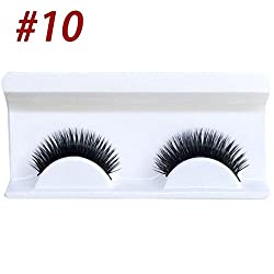 9th Avenue 10: 1 Pair False Natural Eyelash Professional Makeup Individual Cluster Eye Lashes High-grade Fiber Natural Crossover False Eyelash