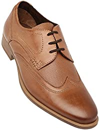 Venturini Mens Leather Lace Up Derby - B078PGBFGY