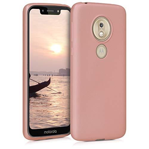 kwmobile Motorola Moto G7 Play Hülle - Handyhülle für Motorola Moto G7 Play - Handy Case in Metallic Rosegold