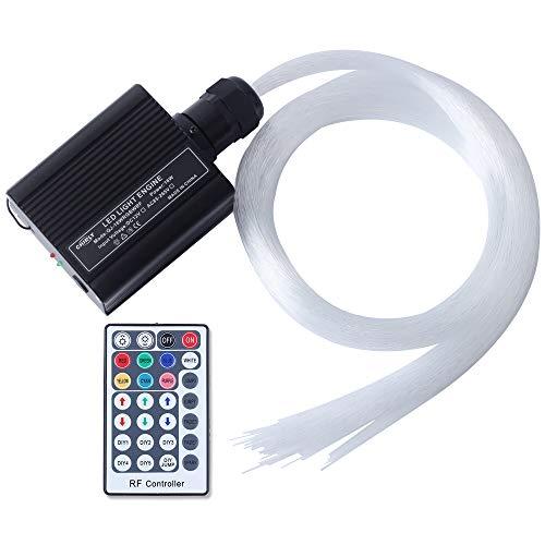16W RGBW LED de fibra óptica Star Star Ceiling Kit luces 150pcs 0.75mm 2m de fibra óptica de iluminación + RF 28key motor remoto