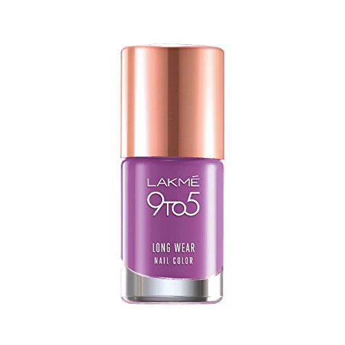 Lakme 9 to 5 Long Wear Nail Color, Lilac Link, 9ml