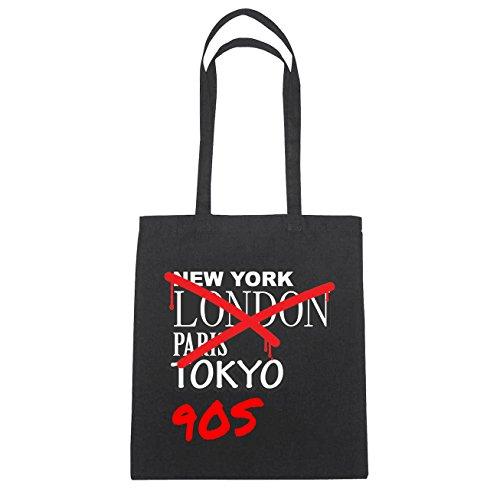 JOllify 90s di cotone felpato b6057 schwarz: New York, London, Paris, Tokyo schwarz: Graffiti Streetart New York