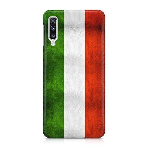 Cover Custodia Protettiva Bandiera Italiana Tricolore Rovinata Italia Flag Orgoglio Compatibile con Samsung Galaxy A40 - A70 (Selezionare Il Modello)