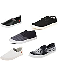 Scatchite Combo Pack Of 5 Stylish Loafers & Sneakers Shoes For Men