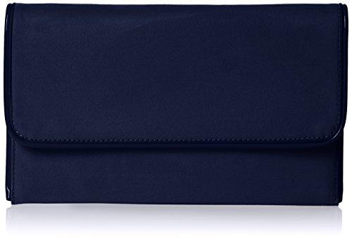Swankyswans Damen Amanda Suedette Slim Clutch, Blau (Navy Blue), 3x15.5x25.5 centimeters