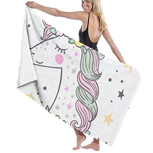 xcvgcxcvasda Serviette de bain, Cute Catroon Unicorn Personalized Custom Women Men Quick Dry Lightweight Beach & Bath Blanket Great for Beach Trips, Pool, Swimming and Camping 31