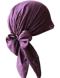 Pre-tie Ultraweiches Kopftuch Aus Baumwolle für Haarverlust, Krebs, Chemotherapie