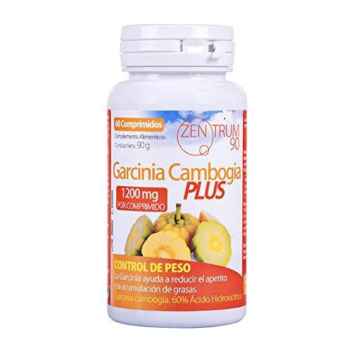 Garcinia Cambogia Plus 1200 mg para adelgazar y como supresor de apetito – Suplemento alimenticio con propiedades quema grasas para combinarlo con una dieta saludable y deporte - 60 comprimidos