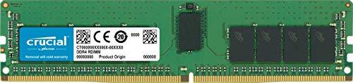 Crucial CT16G4RFD8266 16GB Speicher (DDR4, 2666 MT/s, PC4-21300, Dual Rank x8, ECC, Registrierte, DIMM, 288-Pin) - Speicher-16